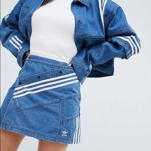 Adidas x Danielle Cathari denim skirt L NWT